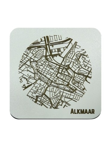 WoodyMaps ♥ Alkmaar • Onderzetter