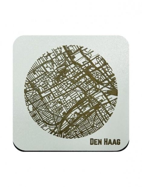 WoodyMaps ♥ Den Haag • Onderzetter