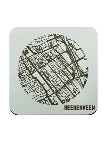 WoodyMaps ♥ Heerenveen • Onderzetter