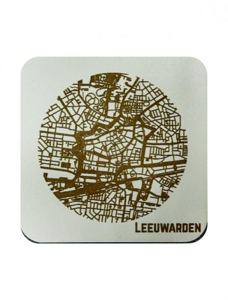 WoodyMaps ♥ Leeuwarden • Onderzetter